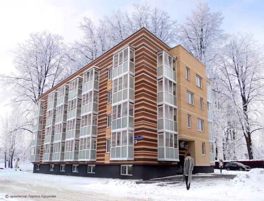 Жилой дом эконом класса по ул. О. Кошевого, 27 в г. Перми.