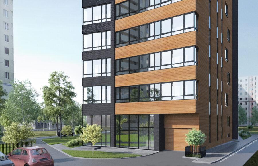 Клубный жилой дом по проспекту Парковый, 50а, в Индустриальном р-не  г. Перми  (в СМИ «Академика»)